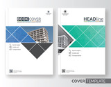 Multipurpose corporate business flyer layout design. Suitable for flyer, brochure, book cover and annual report. green and blue color in A4 size template background with bleeds. Vector illustration