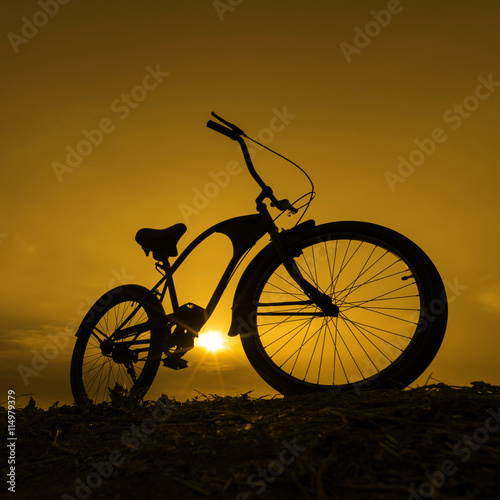 Juliste Silhouette bike