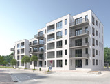 Mehrfamilienhaus Strassenszene 3 - 114983571