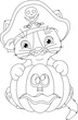 Pirate Kitten Coloring Page