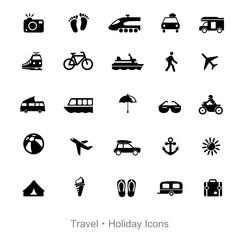 Icons Reise und Verkehr