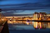 Fototapety Dublin City Center during sunset