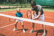 Tennis training.
