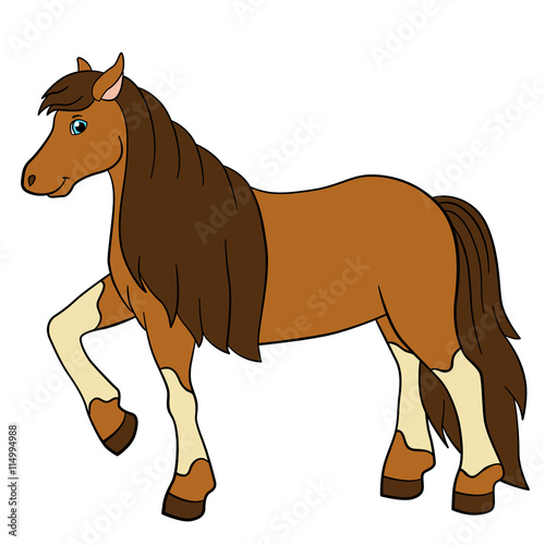 Aluminium Zoo Cartoon farm animals. Cute horse.