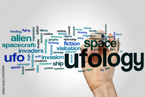 Ufology word cloud Poster