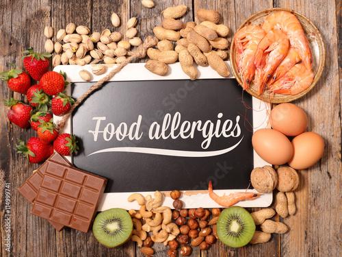 Plagát, Obraz allergy food
