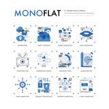 Advertising Media Monoflat Icons