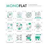 Cloud Technology Monoflat Icons