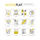 Corporate Development Monoflat Icons