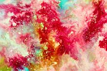 "Постер, картина, фотообои ""Abstract background. Bright paint texture"""