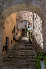 Fototapeta Spello (Perugia), niesamowite średniowieczne miasto w regionie Umbria