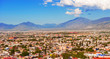 Panorama of the city of Saltillo in Mexico.