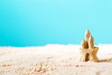 Summer theme with sand castle