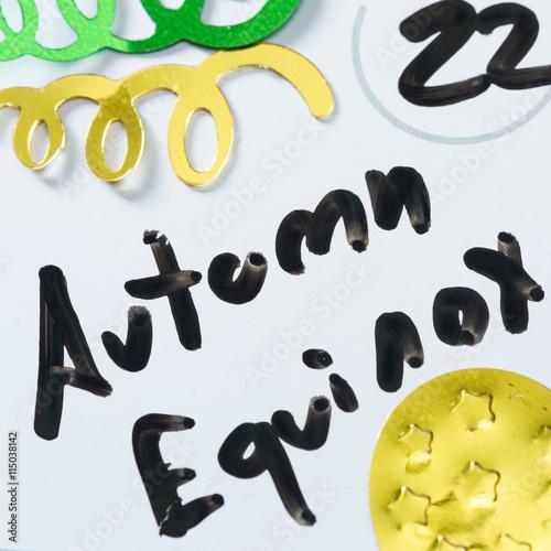 Poster september 22 autumn equinox