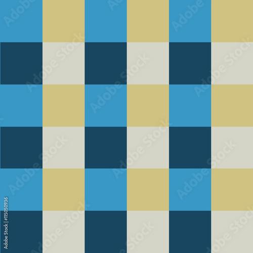 Fototapeta Blue Cream Chess Board Background Vector Illustration