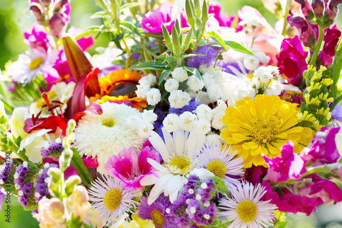 obraz PCV bouquet of summer flowers