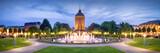 Fototapety Mannheim Rosengarten und Wasserturm bei Nacht