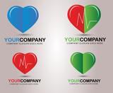 Medical logo heart vector