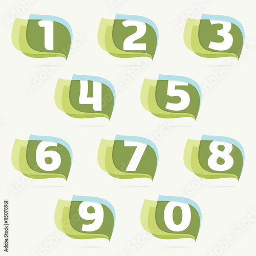 numbers set logos in leaves or flags icon buy photos ap images
