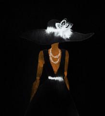 elegant lady. watercolor fashion illustration © Anna Ismagilova