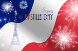 Vector illustration, card, banner or poster for the French National Day, Bastille Day, Fourteenth of July