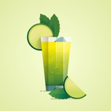cocktail background, vector illustration,
