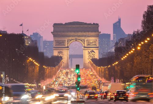 Paris Arc of Triomphe Poster