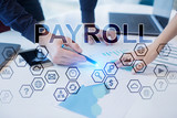 Business people working in office. Payroll concept.