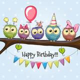 Five Cute Owls