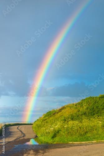 Poster Rainbow near Aberdeen harbour Scotland UK