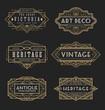 Vintage line frame design for labels, banner, logo, emblem, apparel, t- shirts, sticker and other design object. Vector illustration