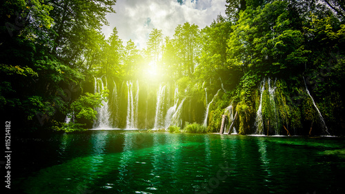 waterfalls in the forest - 115214182