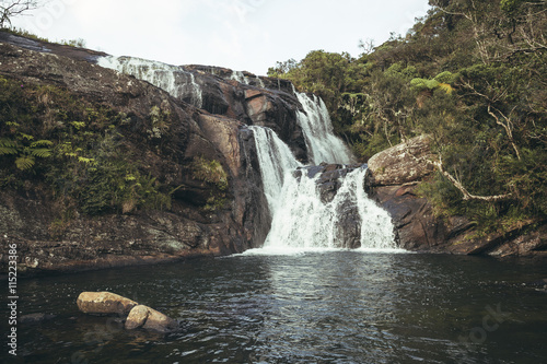Baker's Falls in Horton Plains National Park, Sri Lanka.