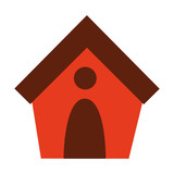 dog house isolated icon design