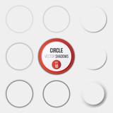Circle shadows, collection of  circle vector shadows vector illustration - 115247762