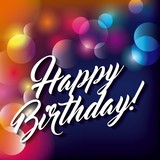 Blurred background. Happy Birthday design. Vector graphic