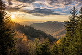 Great Smoky Mountains, autumn sunrise Tennessee - Fine Art prints