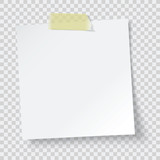 white paper reminder, vector - 115265729