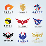 Eagle logo collection,bird logo,phoenix logo,vector logo template.