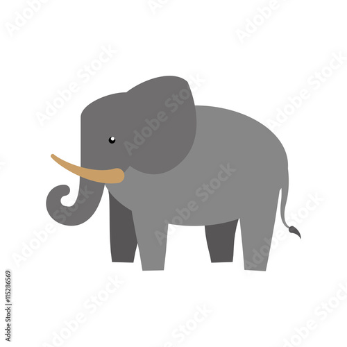 Plakát, Obraz Animal concept represented by elephant icon