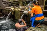 balinese prayer at holy water