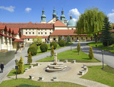 Kalwaria Zebrzydowska in Poland. Basilica and monastery of Bernardine - UNESCO World Heritage Site. Mannerist architecture, pilgrimage destination. - 115291760