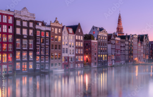 Foto op Canvas Amsterdam Twilight in Amsterdam