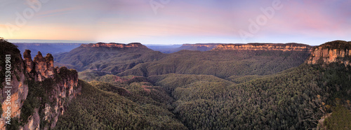 Fotobehang Lichtroze BM 3 sisters Canyon Pan sunrise