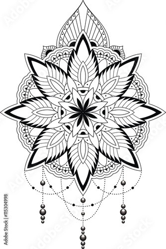 gamesageddon tattoovorlage spitzen muster mandala style. Black Bedroom Furniture Sets. Home Design Ideas
