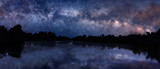 Fototapety Milky Way over the lake