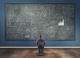 Fototapety Teenager and blackboard