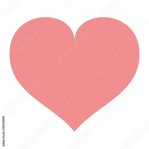 love heart shape romantic icon isolated vector illustration - 115340989