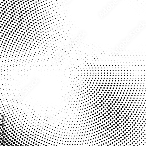 Fotobehang Pop Art Vector halftone abstract transition dotted circular pattern