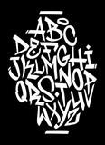 Hand written graffiti font alphabet. Vector - 115391515